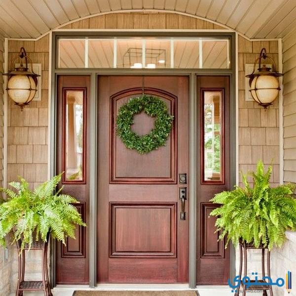 ابواب منازل خشبية للداخل والخارج 2019