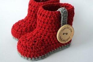 احذية كروشية للأطفال 2018