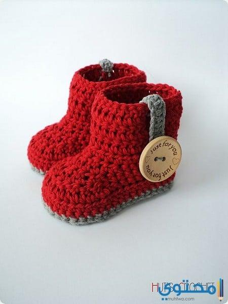 a3df23fbd احذية كروشية للأطفال 2019 - موقع محتوى