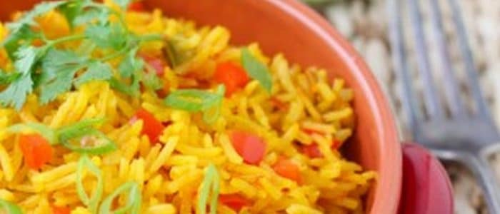 طريقة عمل أرز بسمتى بالفلفل الألوان
