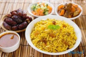 طريقة عمل الأرز البسمتى بقطع اللحم