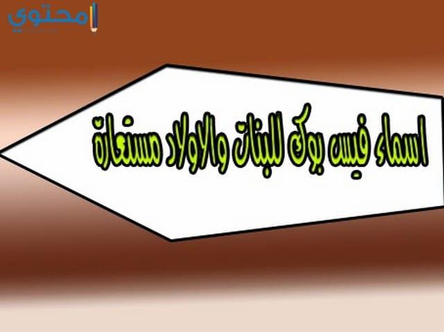 اسماء فيس بوك حلوة 2020 عربية وانجليزية اسماء للفيس بوك 1441