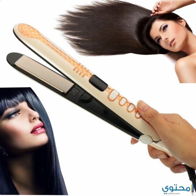 أخطاء عند استخدام مكواة الشعر