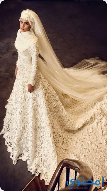 اجمل فساتين زفاف محجبات2018