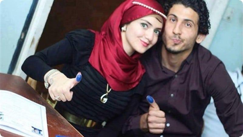 احمد حجازي وزوجته
