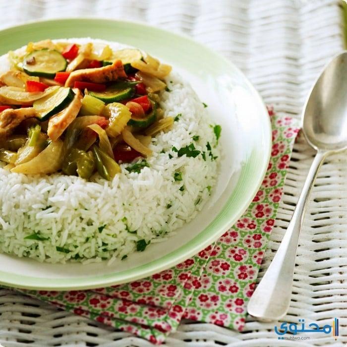 ارز بالخضار