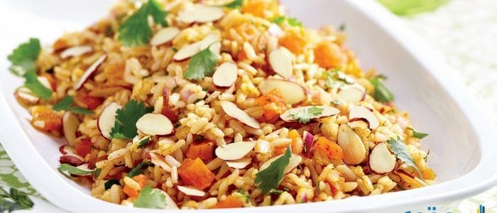 طريقة عمل أرز بالخضار المشكل