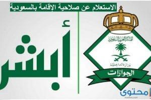 الاستعلام عن صلاحية الاقامة بالسعودية