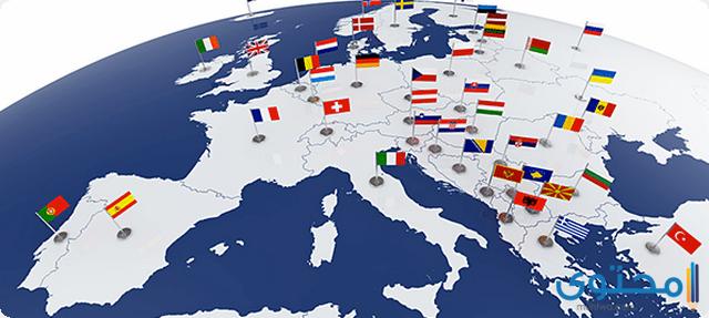 اسماء الدول في قارة اوروبا