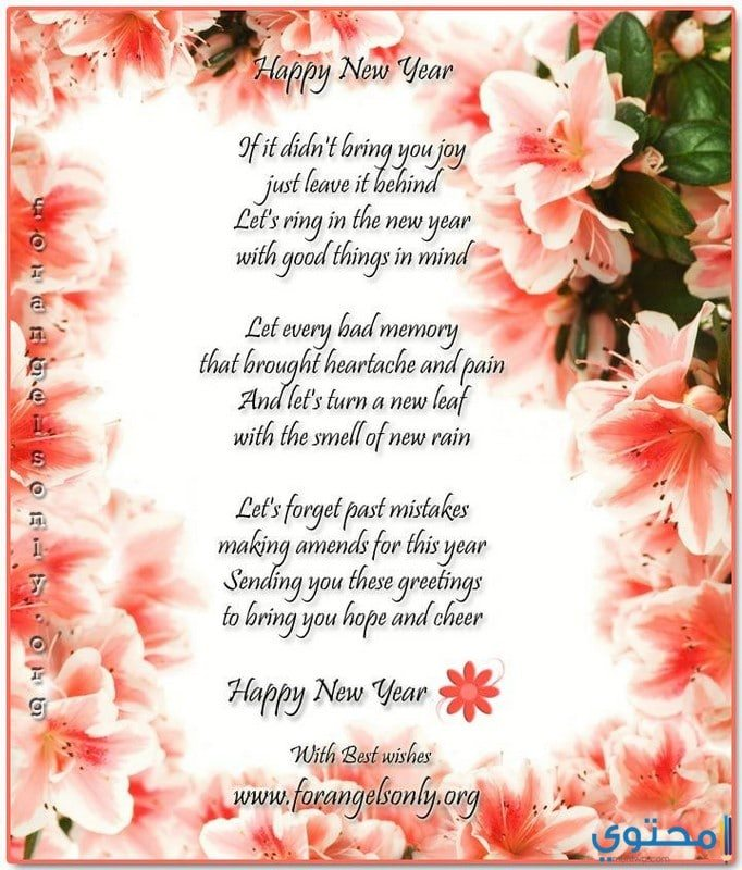 قصائد رومانسية عن السنة الجديدة