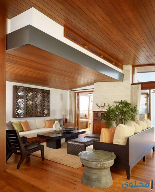 أسقف معلقة للمنازل خشبية