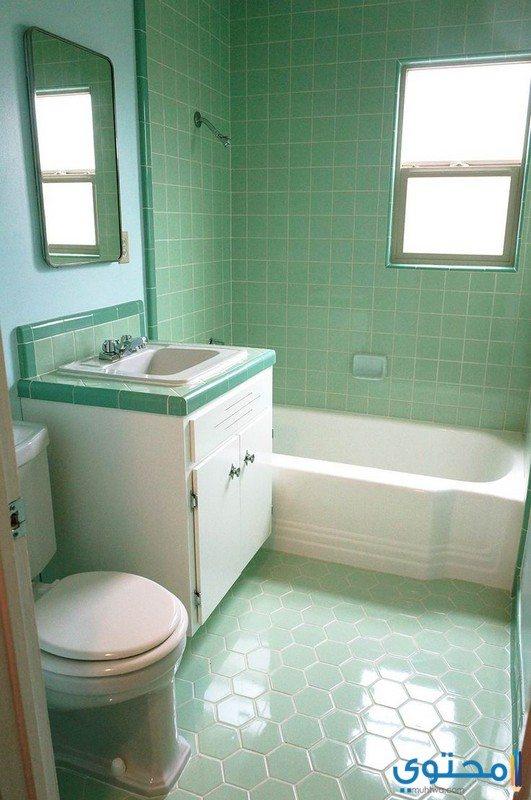 تصاميم بلاط حمامات بسيطة