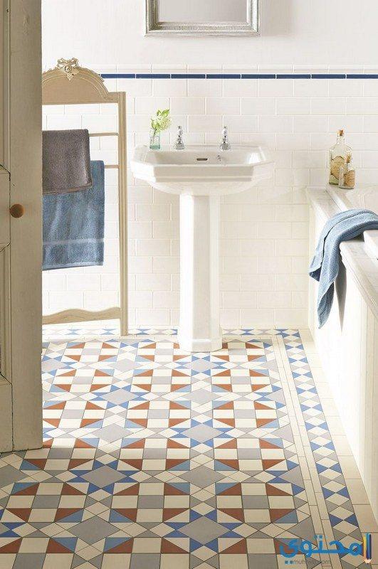 ألوان بلاط حمامات جديدة