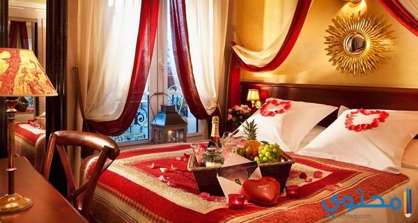 ديكورات غرف نوم رومانسية للعرسان