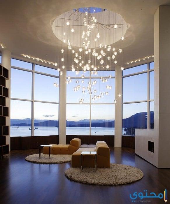 اضاءات للمنزل حديثة ومميزة - تصاميم مطابخ الوميتال حديثة 2018