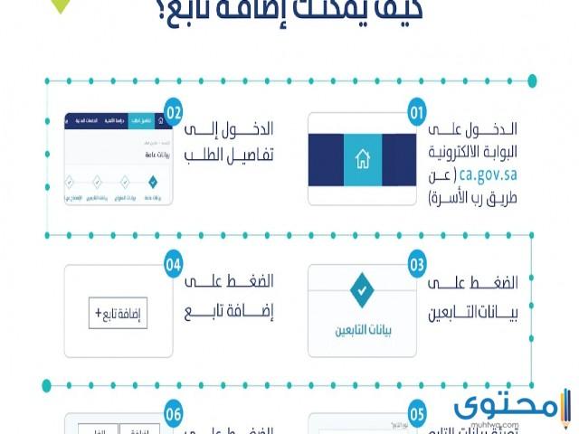 طريقة إضافة تابع في حساب المواطن 1443 - موقع محتوى