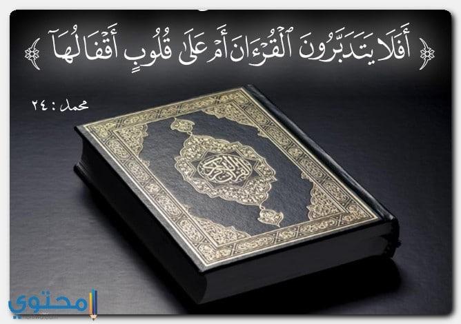 الآيات التي تتحدث عن القرآن