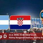 موعد مباراة الارجنتين وكرواتيا في كاس العالم 2018