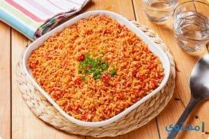 طريقة عمل الأرز الحار بالطماطم