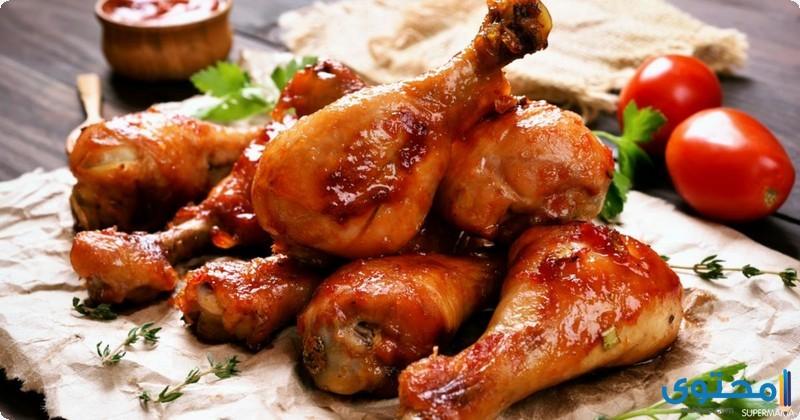 الدجاج المشوى بالعسل