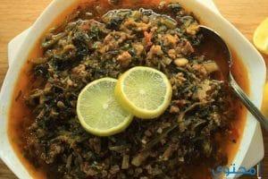 طريقة طبخ السبانخ بالفراخ مع الرز المحمر