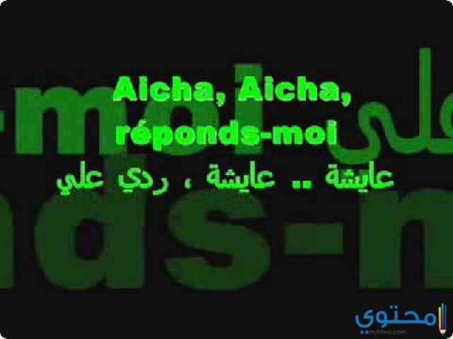 كلمات أغنية عايشة الشاب خالد