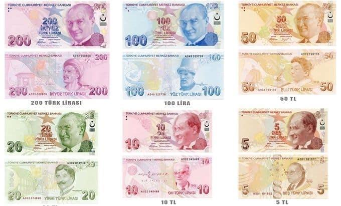 العملات الورقية التركية
