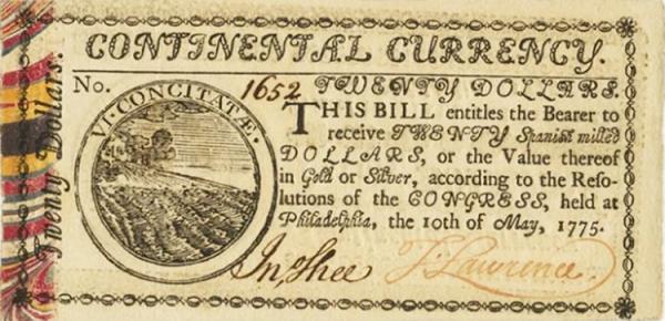 العملة القارية في الولايات المتحدة الأمريكية