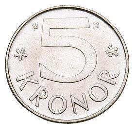 العملة المعدنية فئة الـ5 كرونة