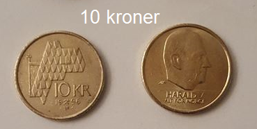 العملة المعدنية لدولة النرويج فئة الـ10 كرونة