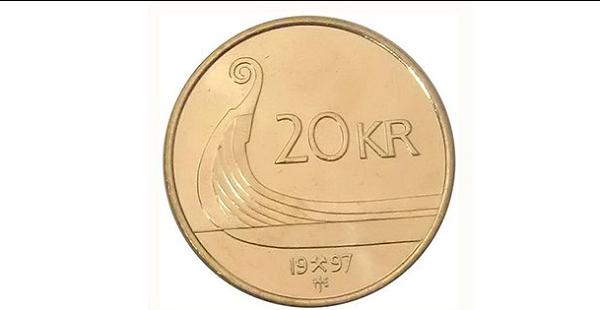 العملة النقدية المعدنية لدولة النرويج فئة الـ20 كرونة