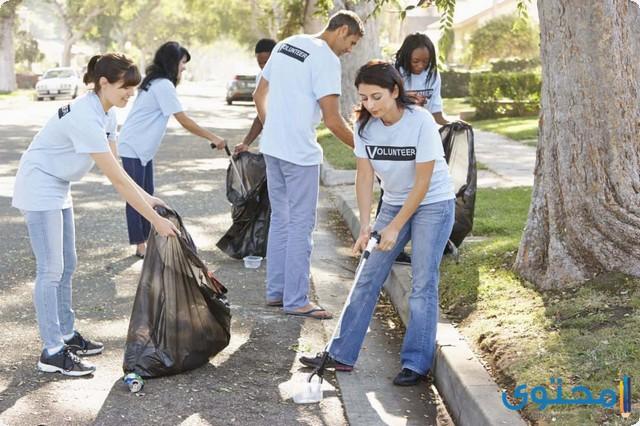 العمل التطوعي في المدرسة