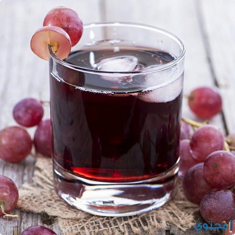 طريقة تحضير عصير العنب الأحمر