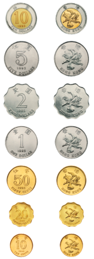 الفئات المعدنية لعملة هونج كونج
