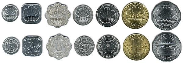 الفئات المعدنية من التاكا البنجلاديشية