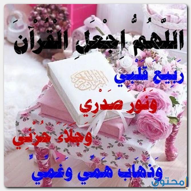 اللهم اجعل القران ربيع قلبي