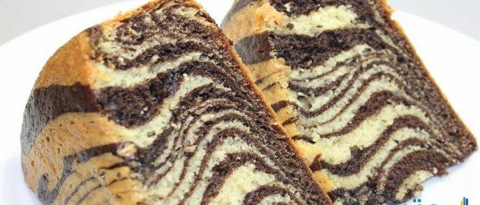 طريقة عمل الكيكة المخططة بالصور