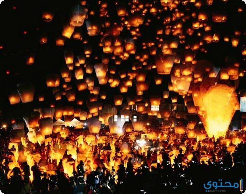"""مهرجان """" المصابيح """" في تايلاند"""