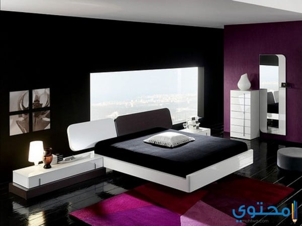 أشكال وألوان غرف نوم مودرن