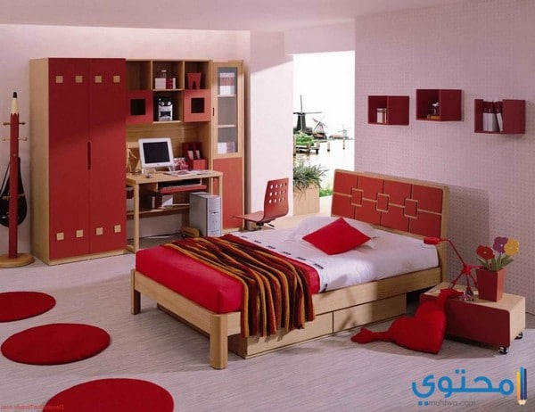 ألوان حوائط غرف النوم