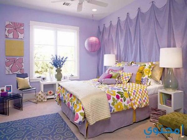الوان حوائط غرف النوم