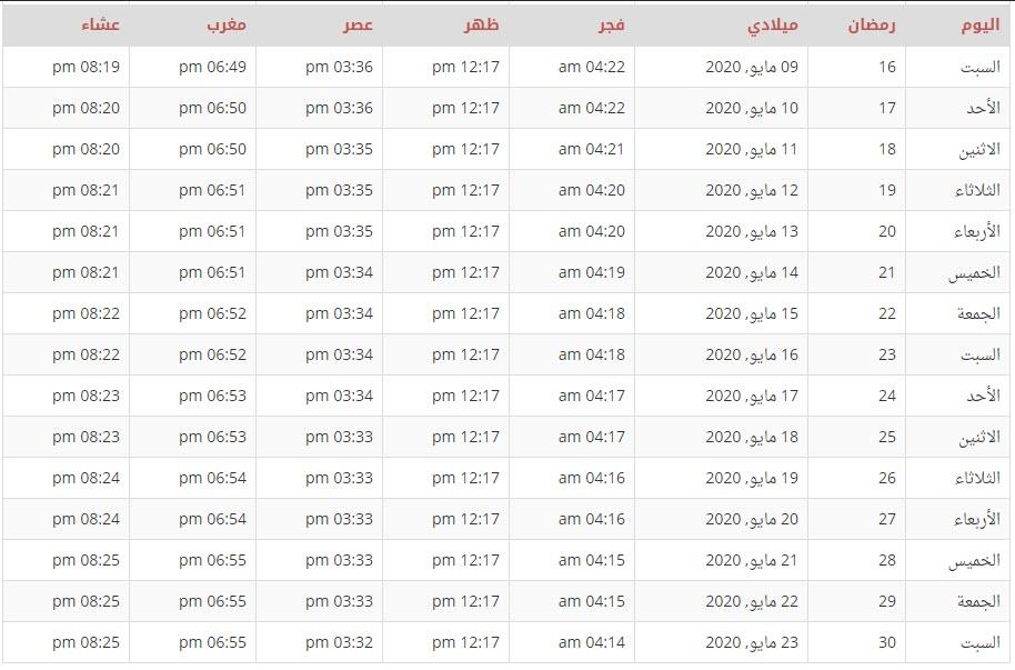 تحميل امساكية السعودية 1442 كاملة موقع محتوى