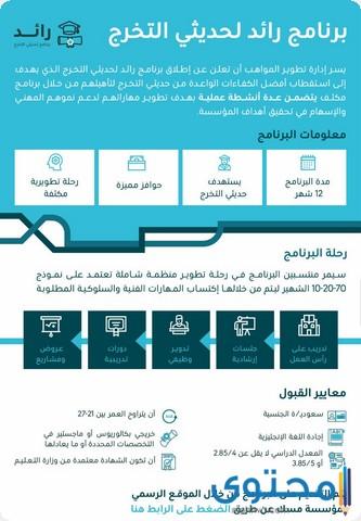 برنامج رائد لحديثي التخرج