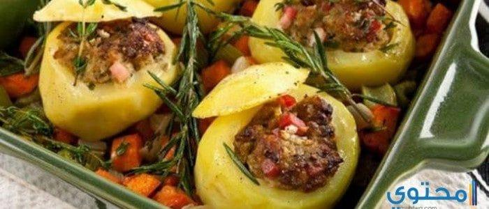 طريقة عمل البطاطس باللحمة المفرومة