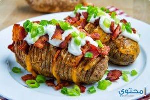 طريقة عمل البطاطس المشوية