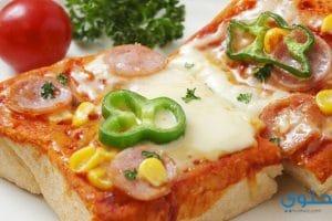 طريقة عمل بيتزا التوست بالصور