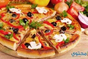 طريقة عمل البيتزا بالمشروم