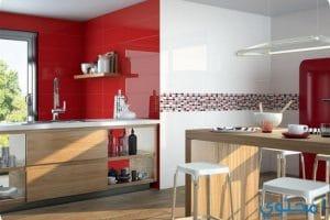 اشكال وتصاميم سيراميك الجدران للمطبخ والحمام