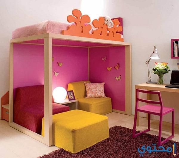 أحدث تصاميم غرف نوم للبنات دورين