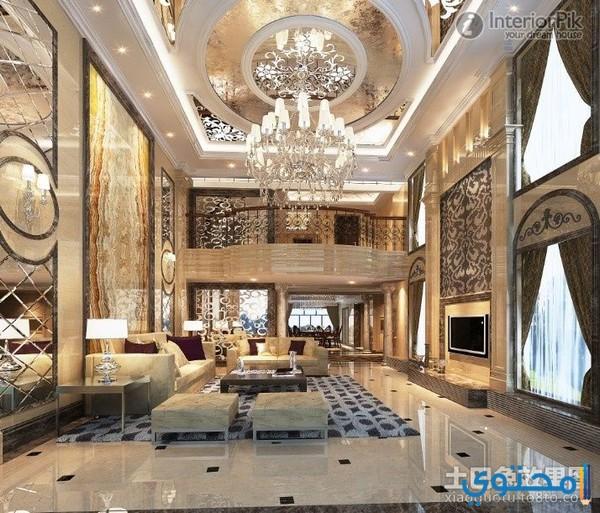 Inside Of A Luxury Home Living Room: تصاميم فلل وقصور من الداخل 1441